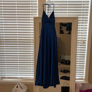 Halter top floor length formal dress